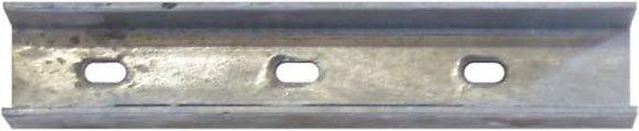 Führungsschienen aus Coulisseneisen 35/35/3 mm, gelocht, Länge 6 Meter
