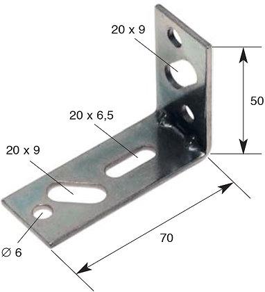 Montagewinkel, Mat. 28 x 2,5 mm