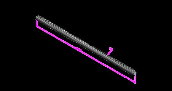 Gewindestange, 3 Meter 8.8