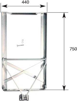 Festtischbeschläge Garmitur, 1 GA= 1 Tisch, 2 Bänke, inkl. Schnäpper+Schraube