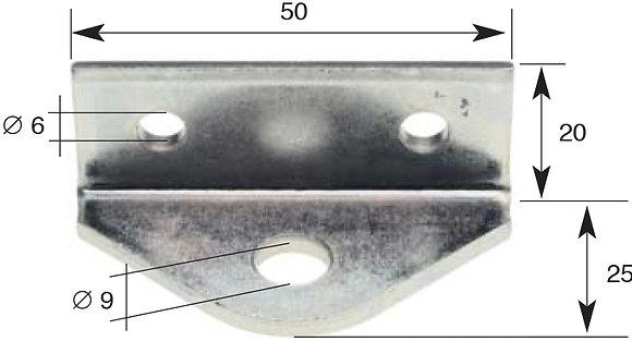 Winkelkolben, mit 1 Loch für Sperrstange