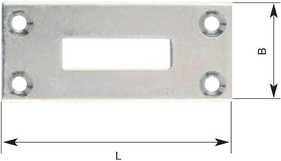 Schliessblech, 2mm