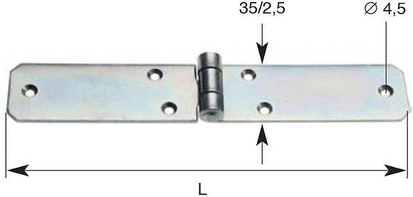 Scharnier mat. 35x2.5 mm