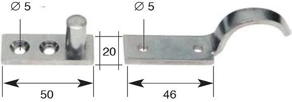 Jalouise-Ladenfanghaken, mit Kolben. 1/2 rechts