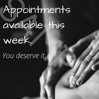Appointments available this week