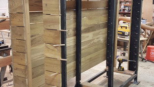 Wood Clad Sliding Gate Support Post Fabrication