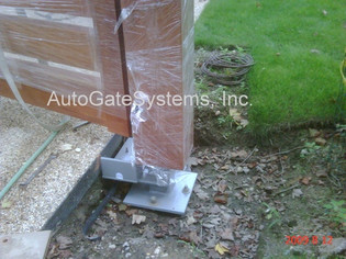 Polley Support Post Installation