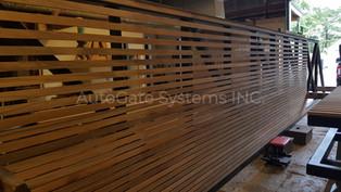 Wood Clad Gates Fabrication