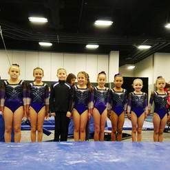 Our little Level 3's ready for their first meet