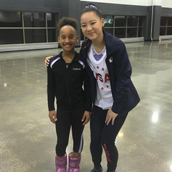 CaMarah meeting Olympic Hopeful Kara Eaker