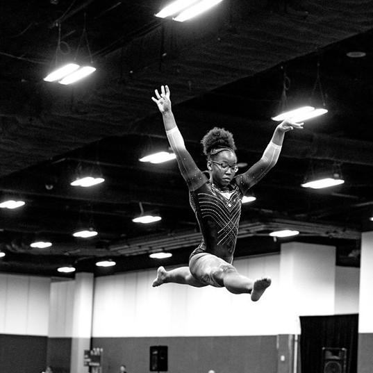 High Flying Zariyah on Beam