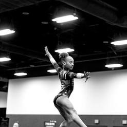 CaMarah's dance pose on beam