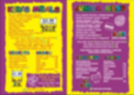 Kids/Junior Menu