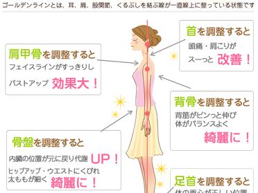 健康&美容の秘訣 ゴールデンライン