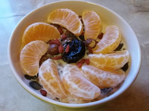 Pyszna owsianka z mandarynką