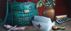 Nurse with a Purse Oil Painting by Isis