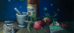 Mexican Viagra still life painting