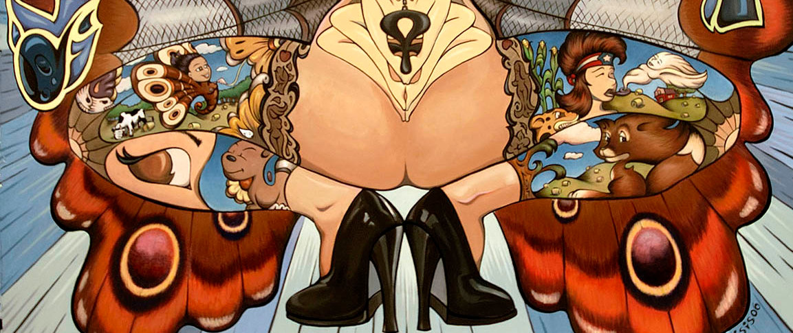 Isis Rodriguez' early artwork focused on labor activism and the empowerment of women, using the cartoon to de-mystify the sex industry.