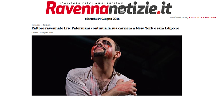 Eric Paterniani Ravenna Edipo Re New York
