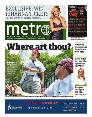 Eric Paterniani on the cover of METRO NYC