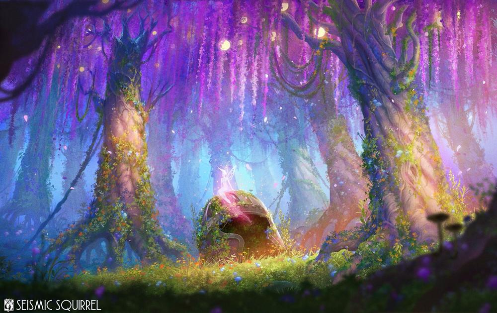 Fantasy forest. Lights of Fellion. Wisteria Fae.