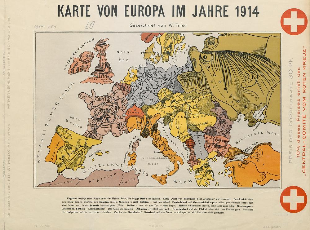 WW1 Satirical map