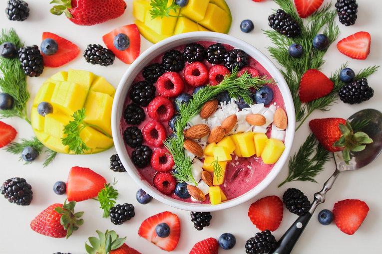 almendras-arandanos-azules-blackberries-