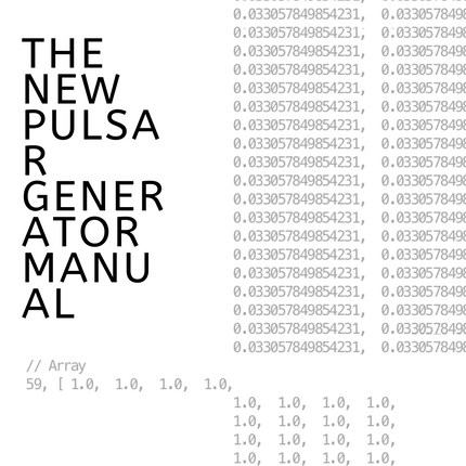 The New Pulsar Generator Manual @Remote Viewing, Philadelphia