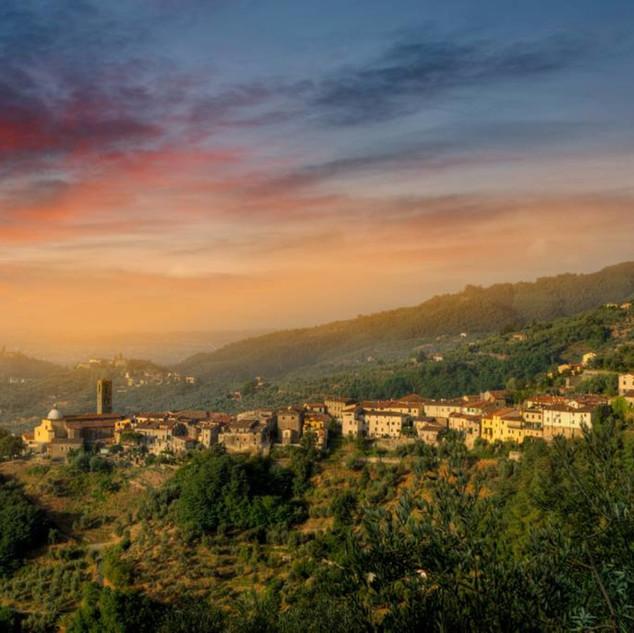 evening view from villa cecchini