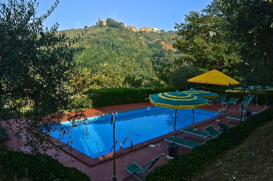 Pool with view of Cozzile Castle