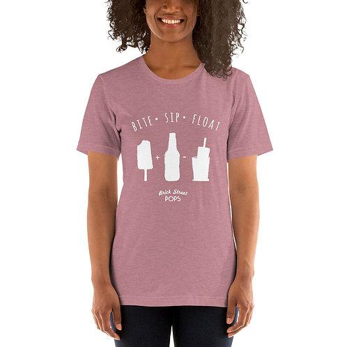 Bite + Sip + Float Womens T-Shirt