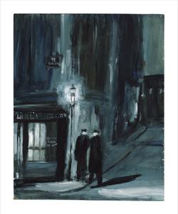 Night Police, Paris. (After Brassai)