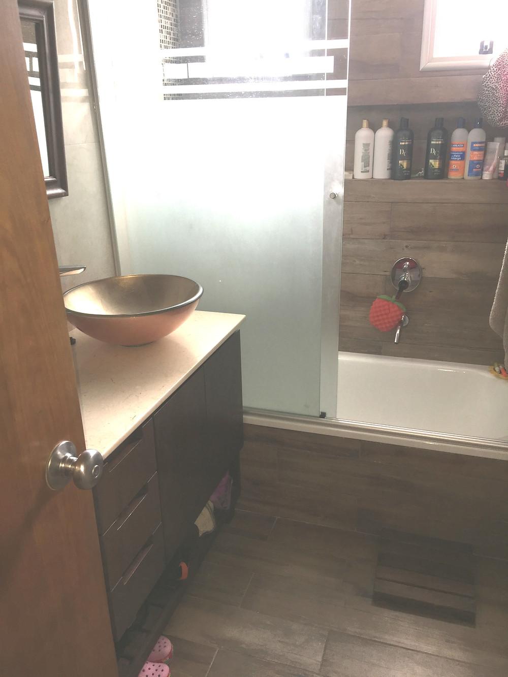 fotos antes y despues remodelacion baño