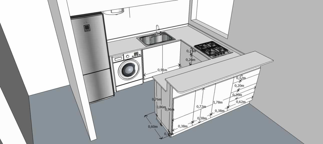 Planos 3D del mobiliario