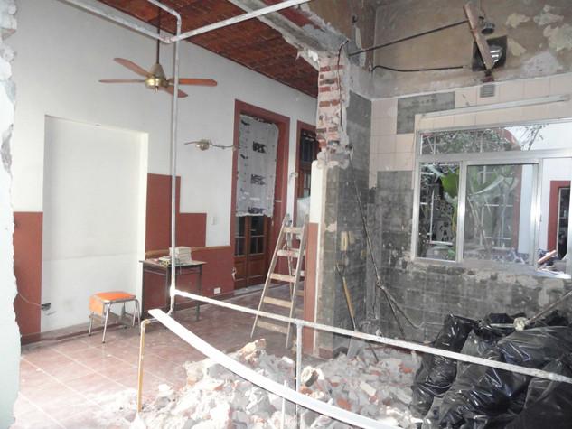 ampliacion de cocina en ph demolicion ob