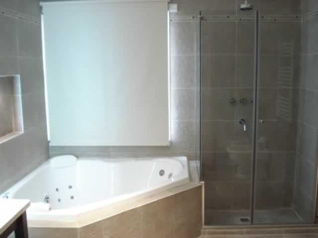 baño con ducha e hidromasaje