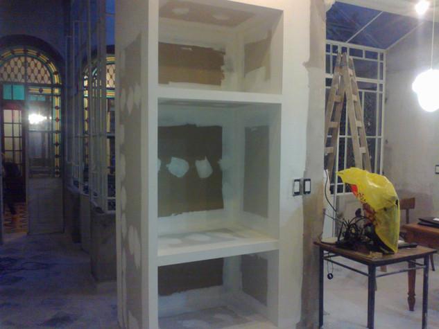 muebles y estantes construccion en seco.