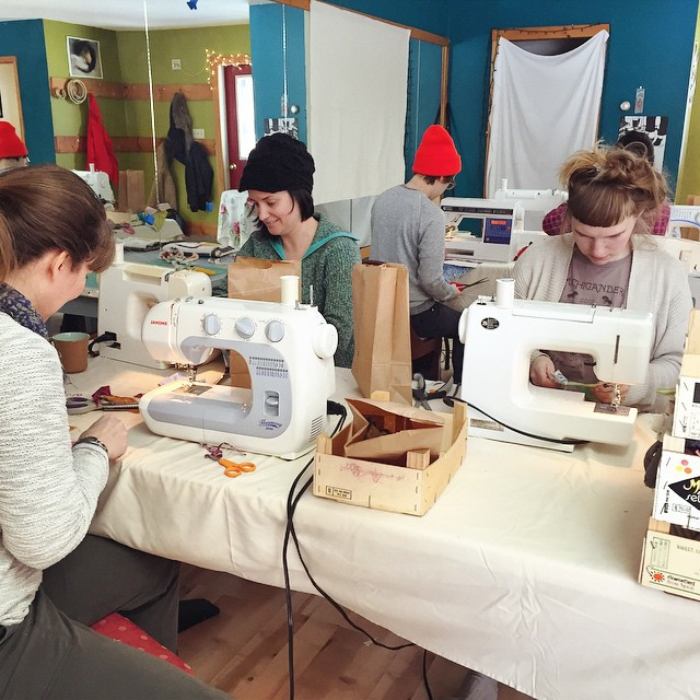 Instagram - sewing their sweet little faces off!