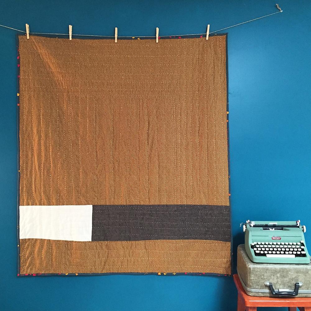 back of Umbrella Prints Trimmimgs Challenge quilt   Katherine Ferrier