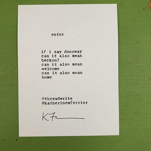 :: enter :: poetryscope