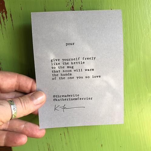 :: pour :: poetryscope