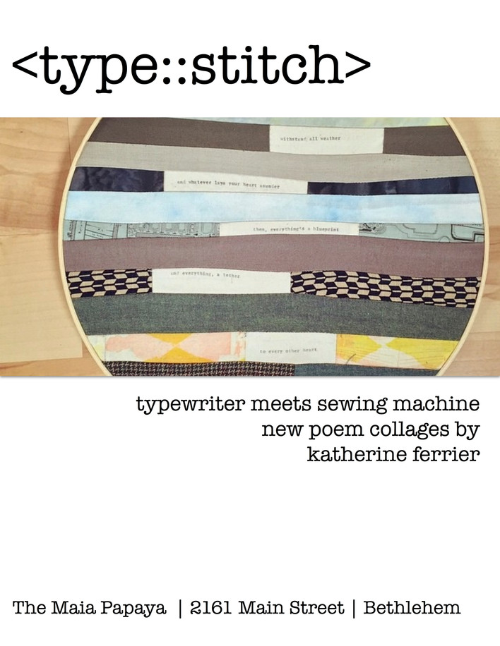typewriter meets sewing machine