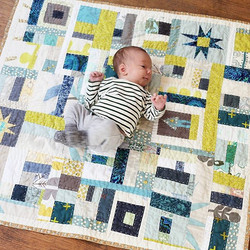 #tbt to making this little quilt for _lenacorwin and her sweet baby Abe
