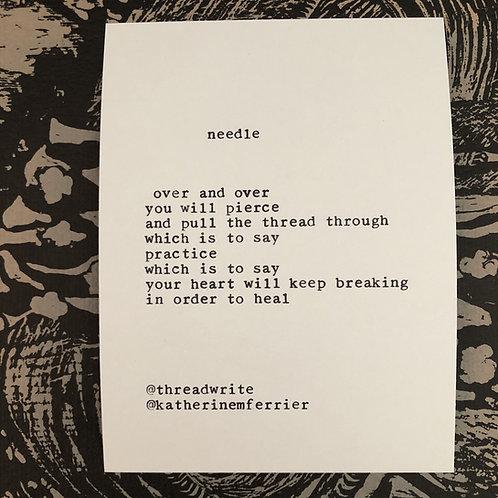 :: needle :: poetryscope