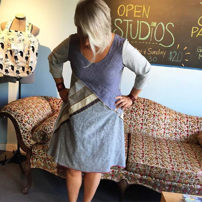 Linen Patchwork Dresses Now Available for Pre-Order!