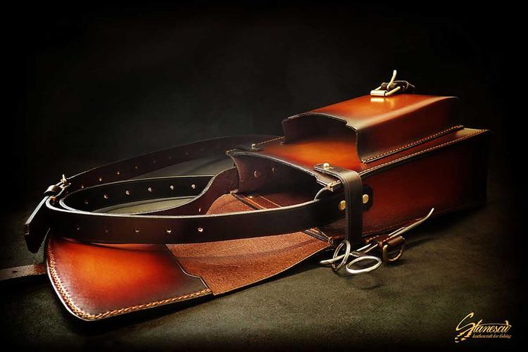 Custom Leather Handmade Fly Fishing Bag