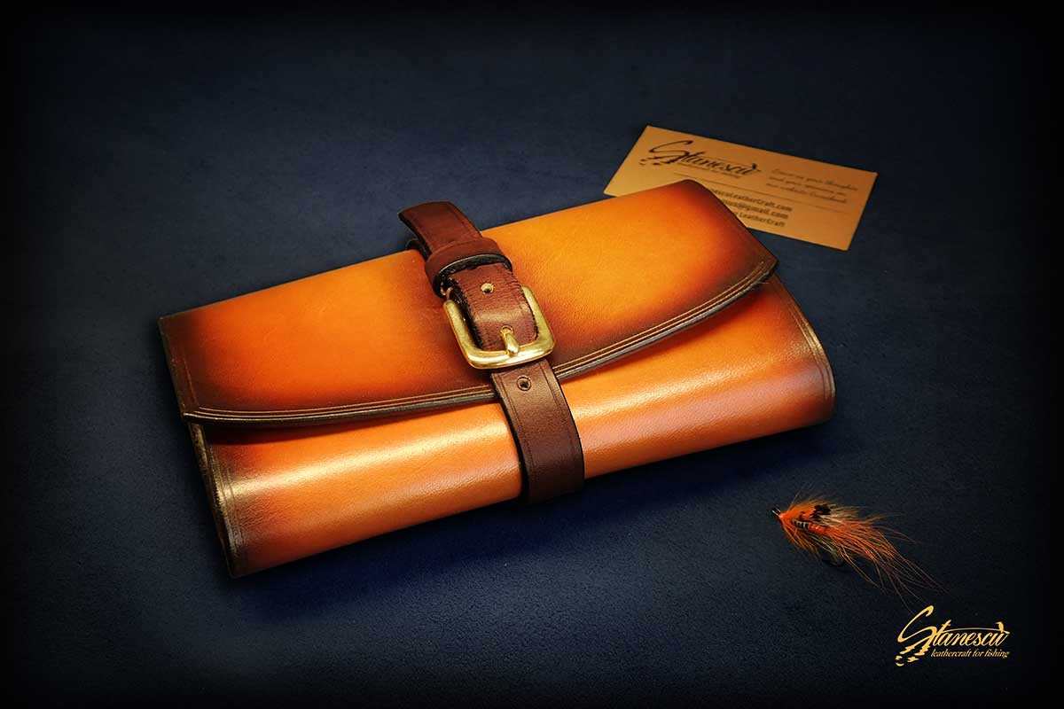 Custom Leather Handmade Fly Fishing Streamer Wallet