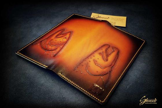 Custom Leather Handmade Fly Fishing Long Wallet