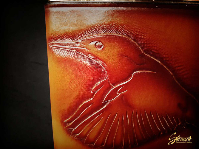 Custom Leather Handmade Fly Fishing Hip Flask