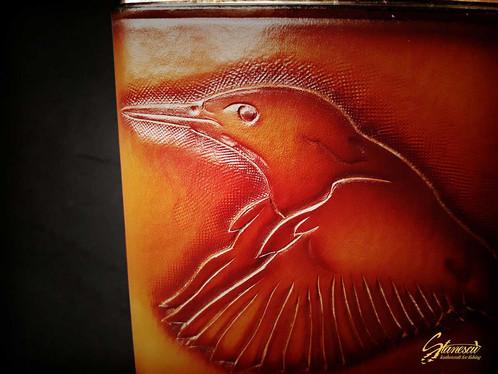 Custom Leather Handmade Fly Fishing Hip Flask